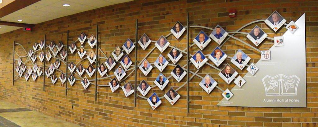 Alumni Hall of Fame Wall at GHS