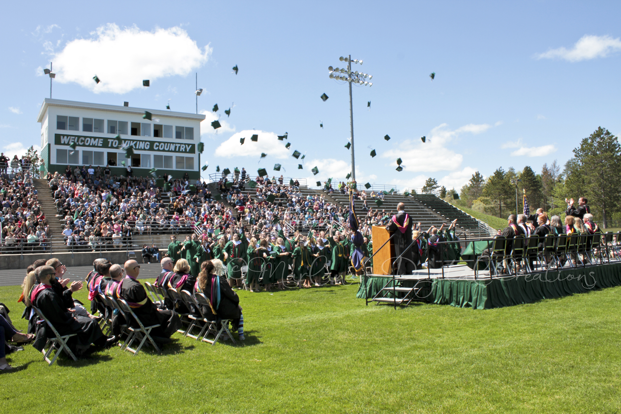 Outdoor commencement ceremony