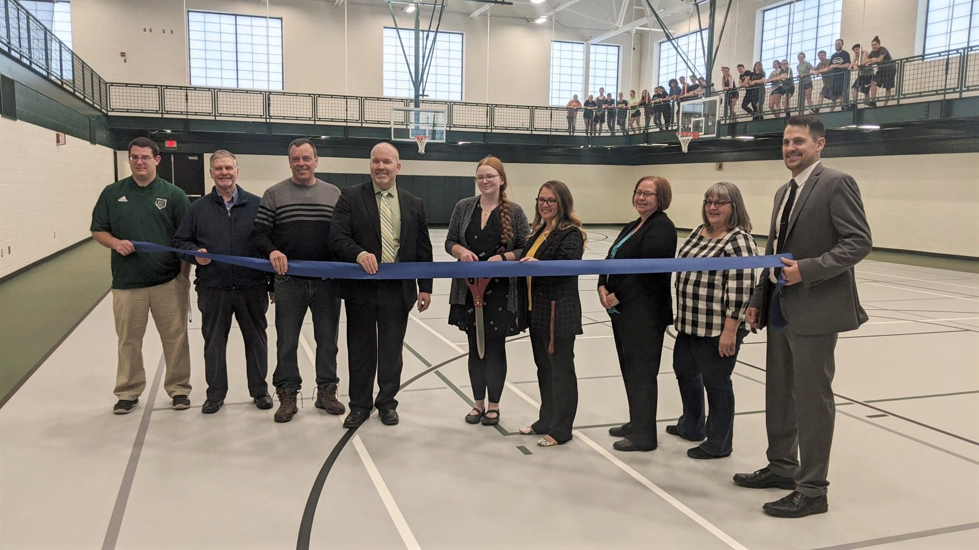 Ribbon cutting ceremony for opening of the VAC