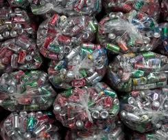 Bags of empty cans
